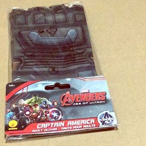 Captain America Adult Gloves